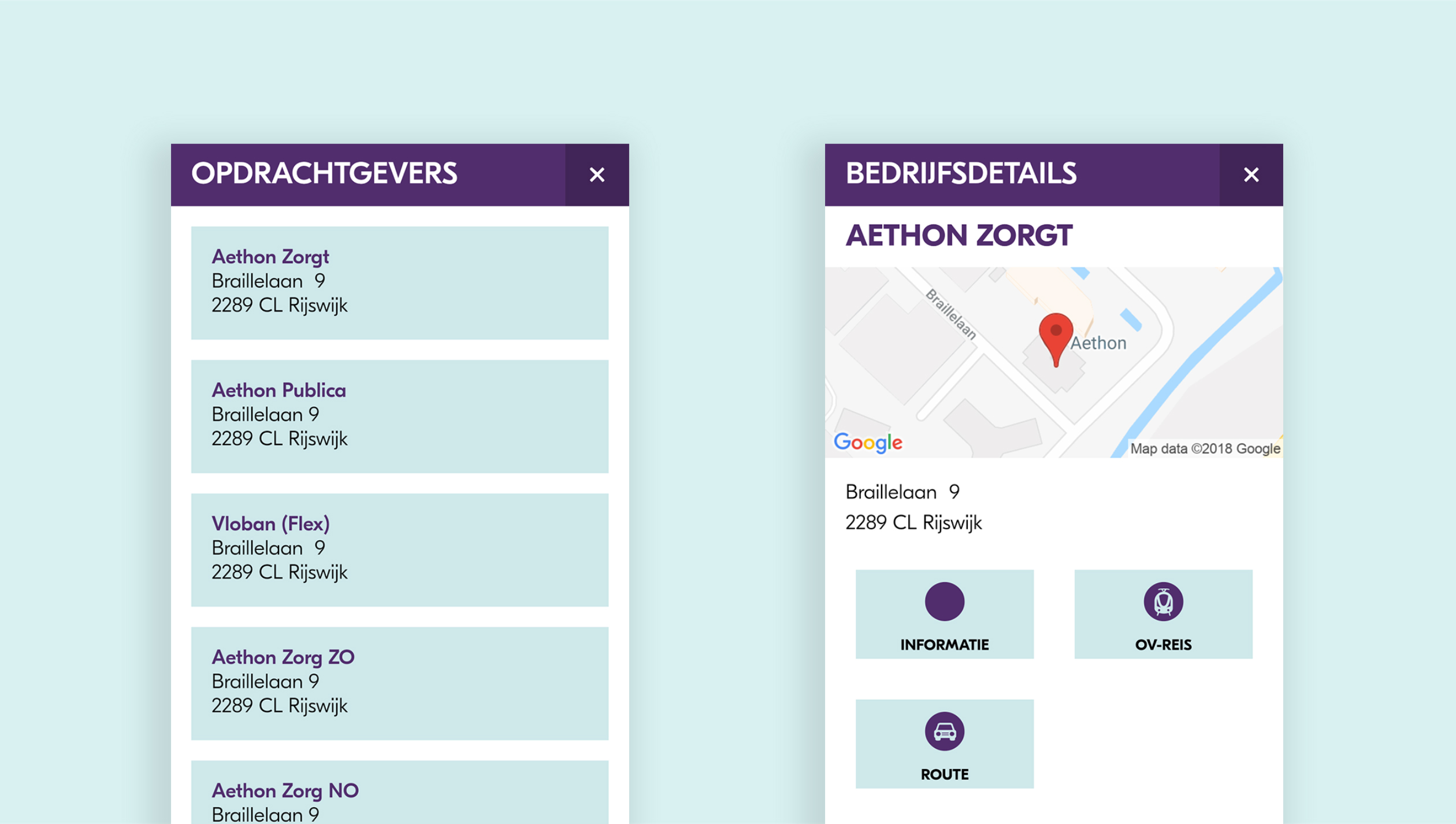 Aethon App opdrachtgever detail